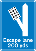 warning-signs - escape lane left   4