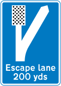 warning-signs - escape lane left   5