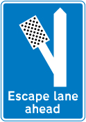 warning-signs - escape lane left