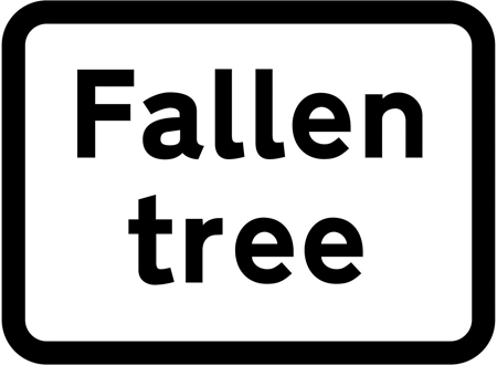 warning-signs - falled tree