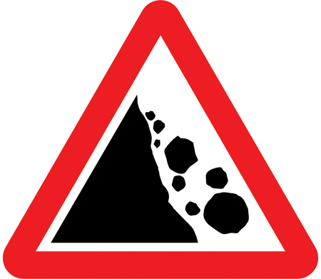 warning-signs - falling rocks
