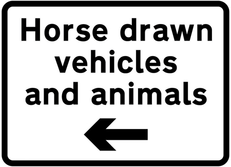 warning-signs - horse drawn vehicles