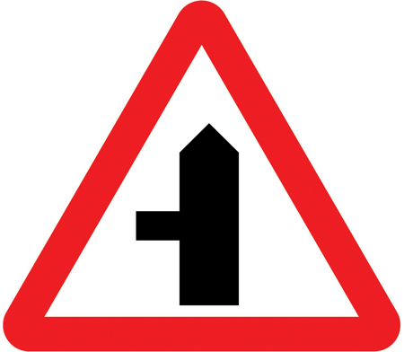junction on left