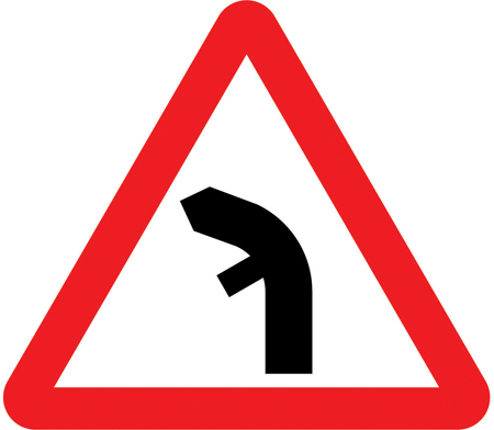 warning-signs - left bend nearside junction