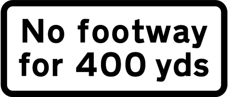 warning-signs - no footway