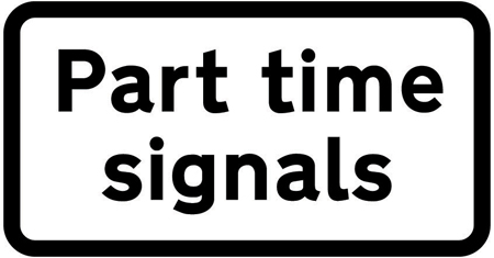 part time signals