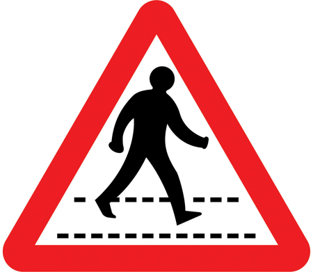 warning-signs - pedestrian crossing