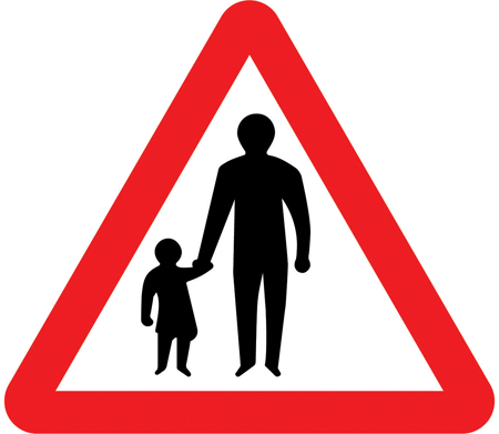 warning-signs - pedestrians in the road