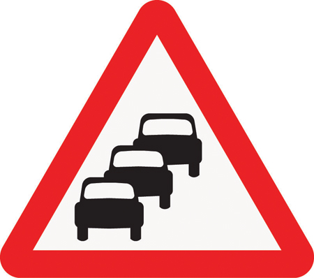 warning-signs - queues likely