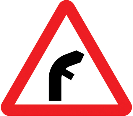 warning-signs - right bend offseide junction