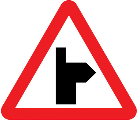 warning-signs - right bend straight on