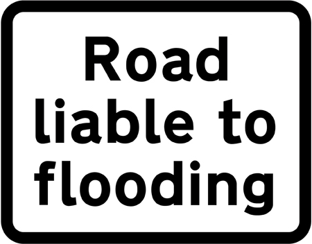 warning-signs - road liable to flooding