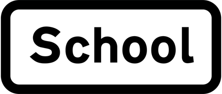 warning-signs - school plate