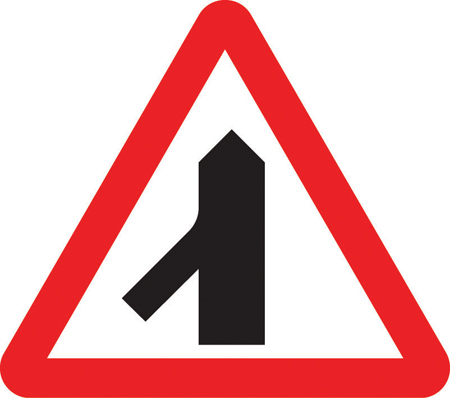 warning-signs - slip lane merging