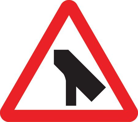 warning-signs - slip lane