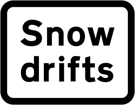warning-signs - snow drifts