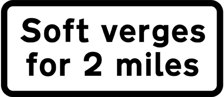 warning-signs - soft verges 2 miles