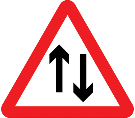 warning-signs - two way traffic ahead