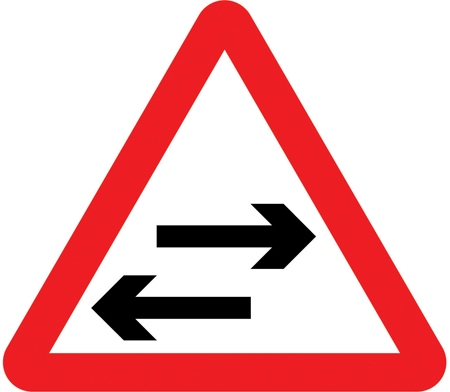 warning-signs - two way traffic crossing