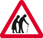 warning-signs - warning frail pedestrians